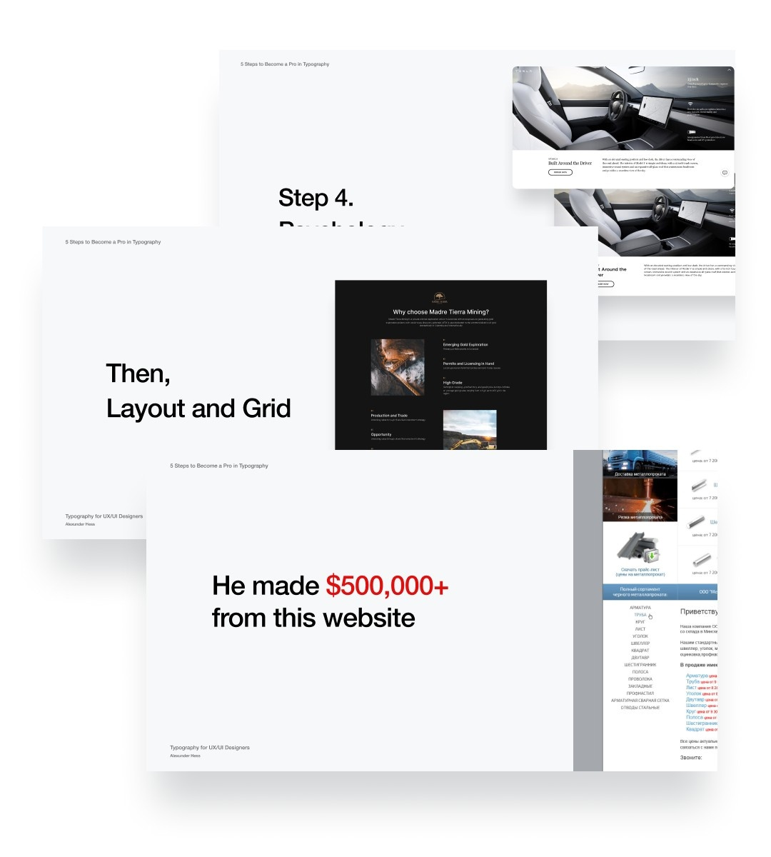 Typography webinar by Alexunder Hess. 5 steps to become a Pro in Typography